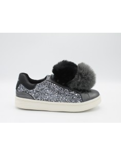 Geox scarpe bambina donna in pelle grigio J824MD