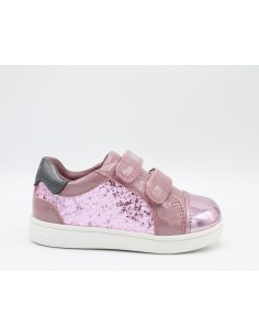 Geox scarpe bambina glitter rosa B821WE Dj Rock