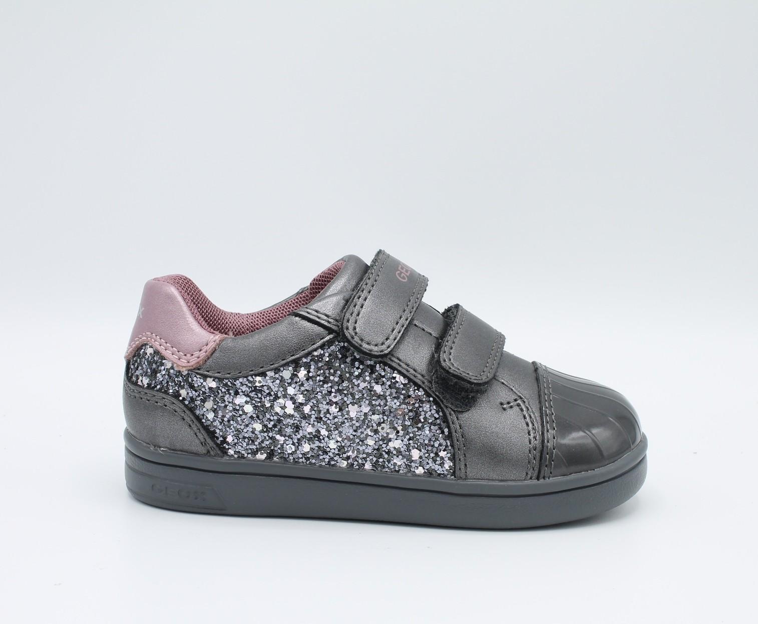 Geox scarpe da bambina con glitter Grigio B821WE Dj Rock - Angela Barba 1f5abcd2398