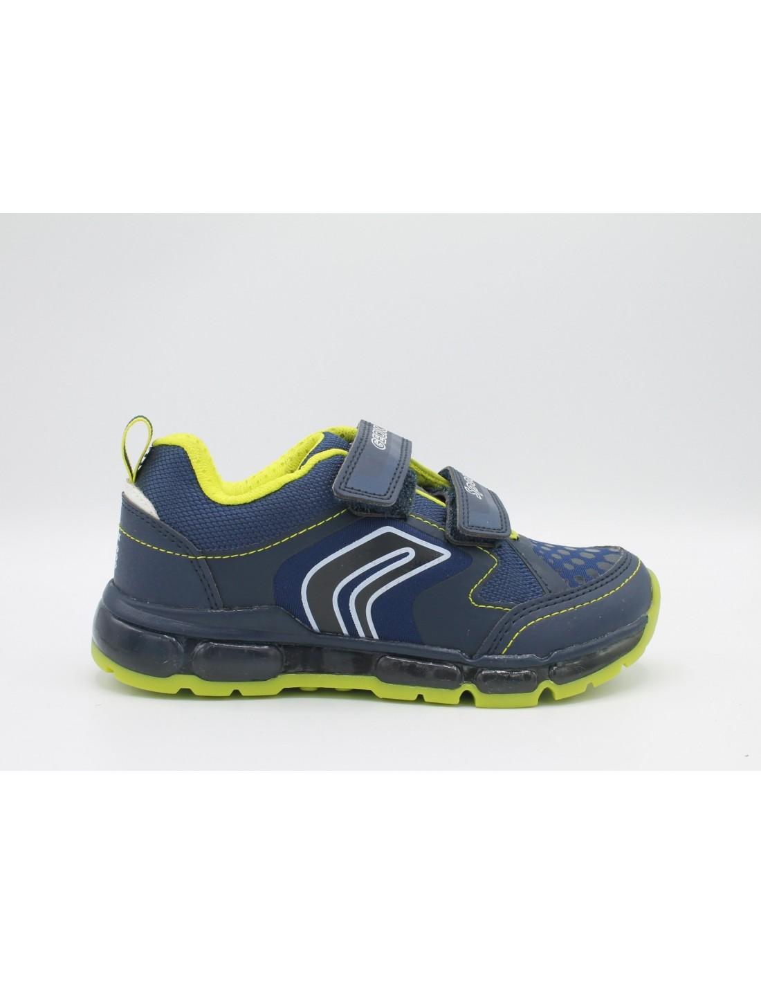 pensieri su servizio duraturo fama mondiale Dettagli su Geox Scarpe da Bambino Sneakers ragazzo junior con luci e  strappi blu Android