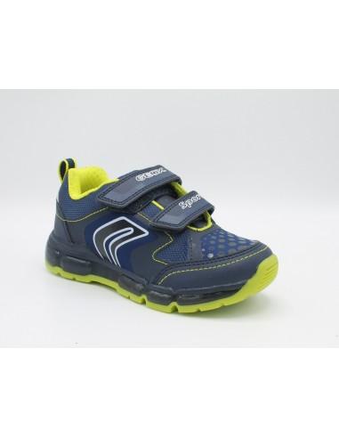 selezionare per lo spazio estremamente unico varietà di disegni e colori Geox scarpa da bambino ragazzo con luci Android J8444A Blu - Angela Barba