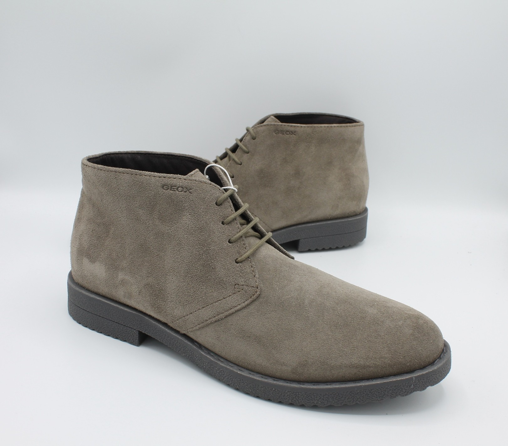 Geox scarpe uomo polacchine in camoscio Taupe U843MB Bradled Angela Barba