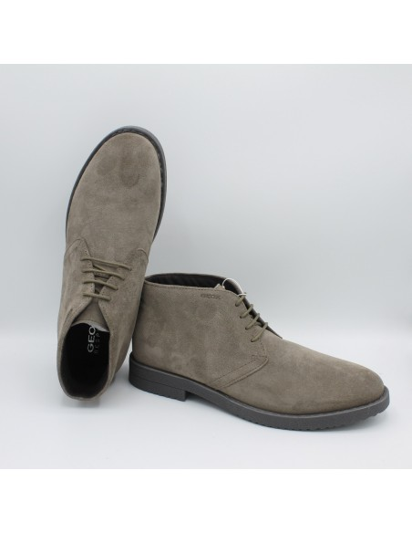 Geox scarpe uomo polacchine in camoscio Taupe U843MB Bradled