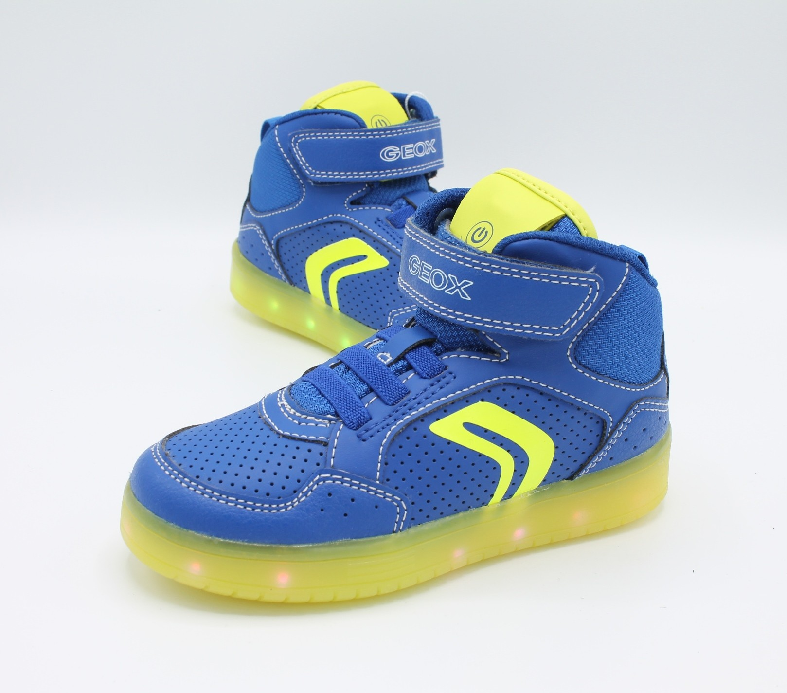 Geox Scarpe da Bambino con luci led Kommodor Blu J825PC