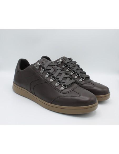 Geox scarpe da uomo in pelle Caffè stringate Warrens U840LB