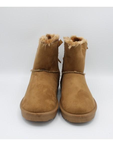 XTI Stivaletti con pelliccia sintetica da donna Camel