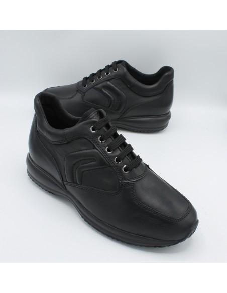 Geox scarpe da uomo in pelle nero modello Happy U4356H