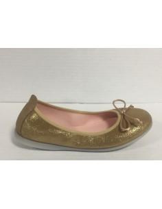 Gioseppo ballerine bimba/ragazza/donna in pelle glitter oro con fiocco, Markova
