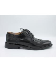 Scarpe uomo classiche modello derby in pelle nero, made in Italy