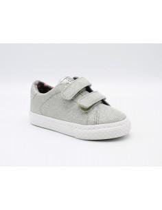 Gioseppo scarpe da bambina in tela con strappi Argento Tennis 43930