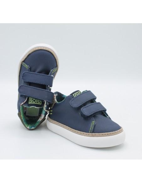 Gioseppo sneakers blu con chiusura a strappo da bambino 44048