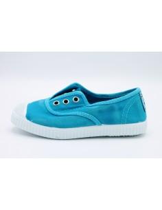 Cienta scarpe da bambino slip on in tela con gomma profumata 70777 Aquamarina