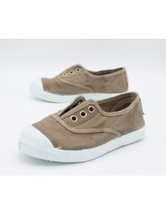 Cienta scarpe da bambino slip on in tela con gomma profumata 70777 Beige