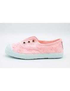 Cienta scarpe da bambina slip on in tela ricamata profumate 70998 Rosa
