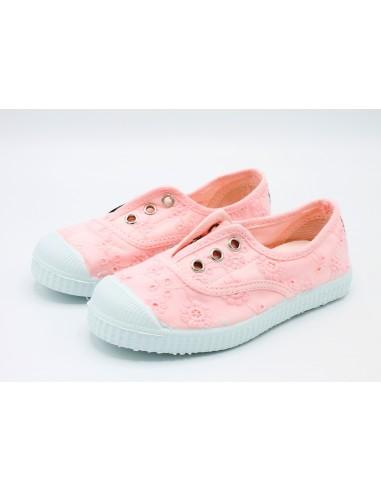 more photos 28614 df23c Cienta scarpe da bambina slip on in tela ricamata profumate 70998 Rosa -  Angela Barba