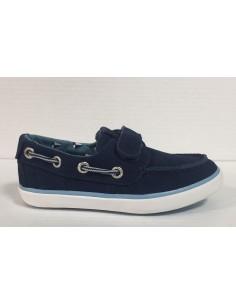 Gioseppo scarpe bimbo/ragazzo in tela blu con strappo, art. Estoril