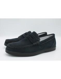 Igi & Co scarpe da uomo mocassini in camoscio blu 3109600