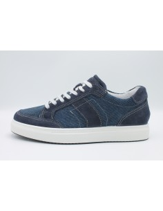 Igi & Co scarpe da uomo in camoscio e tela memory foam blu 3132944