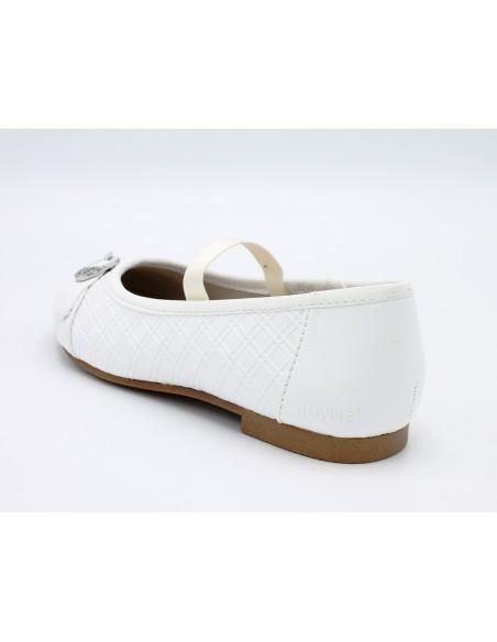 Mayoral scarpe da bambina eleganti in pelle bianco ballerine 43025 45025