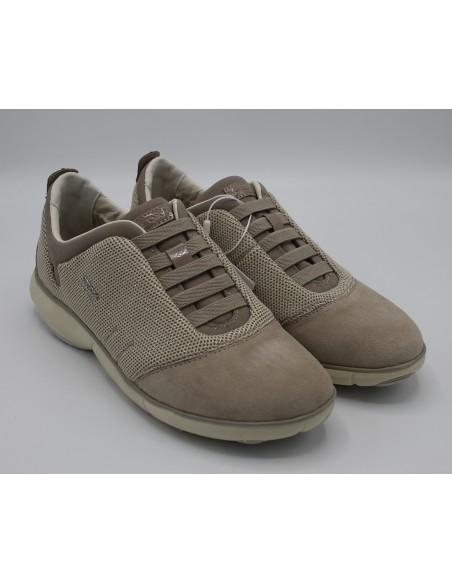 Geox scarpe da donna nebula sneakers slip on in camoscio D621EC