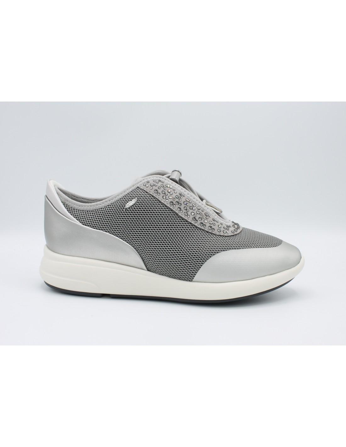 Con Scarpe Da Geox Tela Donna In Zeppa 8wvom0nn Sneakers Pelle Estive WYHeEID29