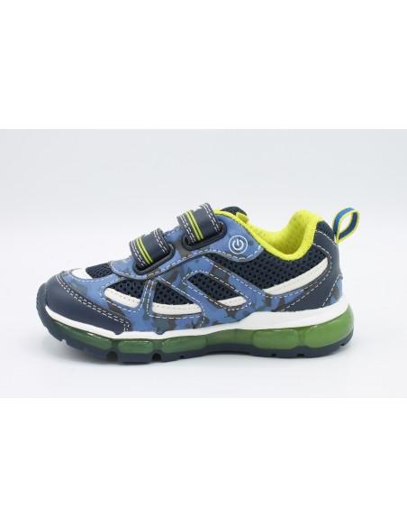 Geox scarpe da Bambino con luci led e strappi Android J9244C Blu