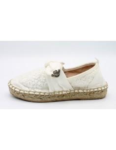 Mayoral espadrillas da bambina scarpe in tela ricamata 43067 45067 47067