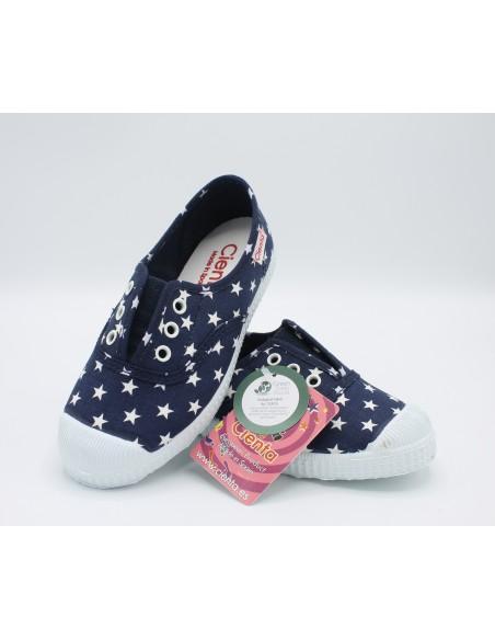 Cienta scarpe bambini profumate sneakers in tela blu a stelle 70010
