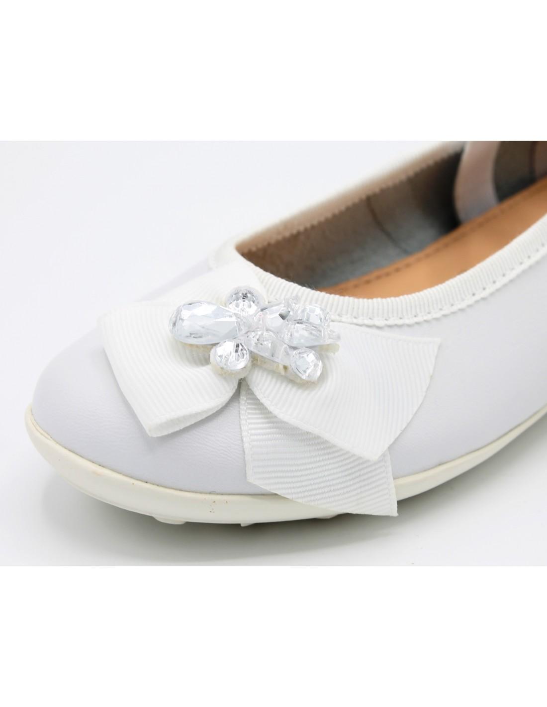Dettagli su Geox Scarpe da Bambina Ballerina eleganti Per Comunione Cerimonia Elegante Bimba