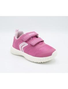 Geox scarpe da bambina in tela Fuxia sneakers B921XA Waviness