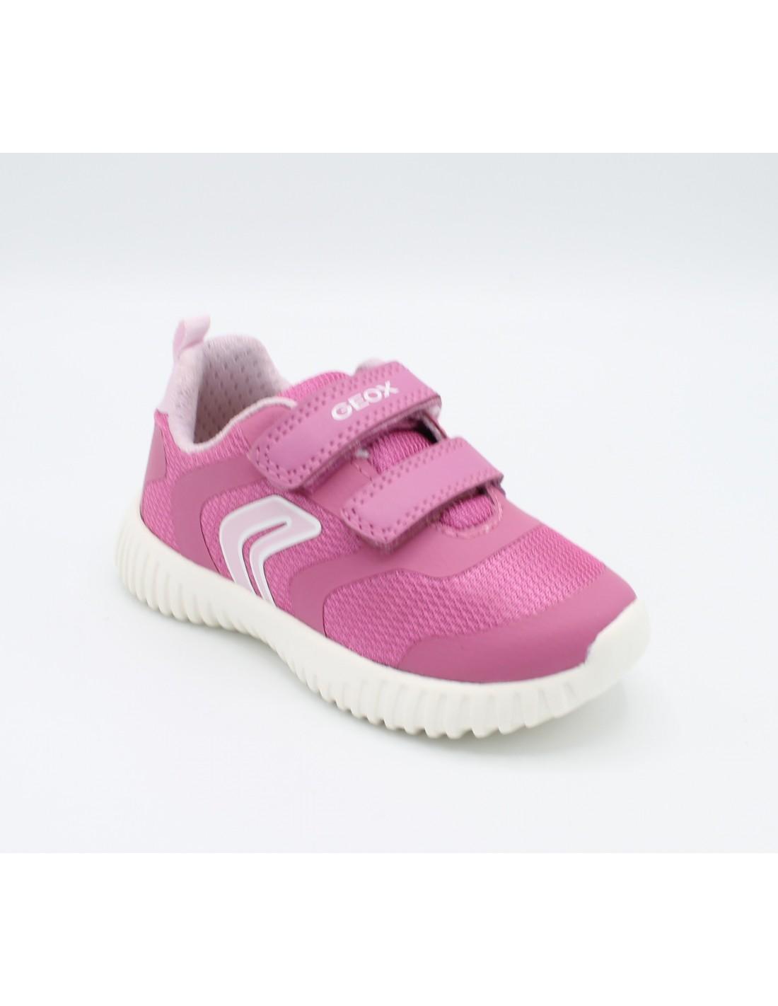 Dettagli su Geox Scarpe per Bambina Estive Sneakers da Bimba in Tela Sportive Ginnastica 26