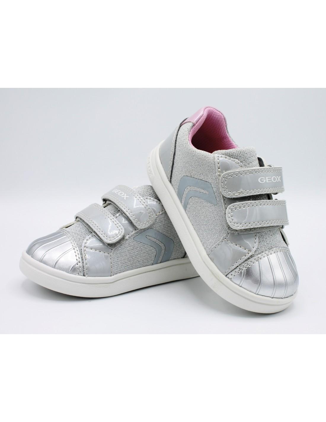 GEOX SCARPE PER Bambina Sneakers da Bimba in Tela Glitter Estive Ginnastica 26