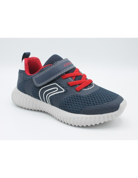 GEOX Waviness J926TB Scarpe Junior Ragazzo sneakers in tea con strappo e lacci elastici