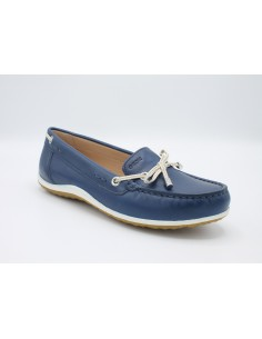 Geox scarpe da donna mocassini in pelle blu D92DNB Vega