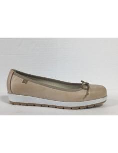 Cinzia soft scarpe donna ballerine in nappa spazzolato cappuccino, art. Ie1000