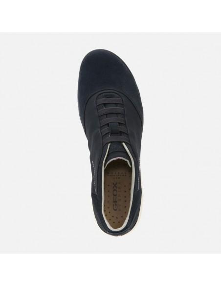 GEOX NEBULA U52D7B Scarpe sneakers in camoscio e tessuto Navy comode e leggere