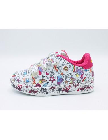 Primigi scarpe da bambino con strappi bianco fantasia 3452411