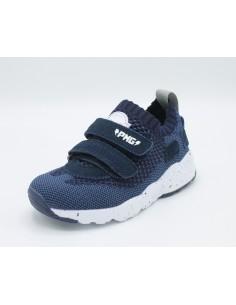 Primigi scarpe da bambino in tessuto blu scuro con strappi 3452144
