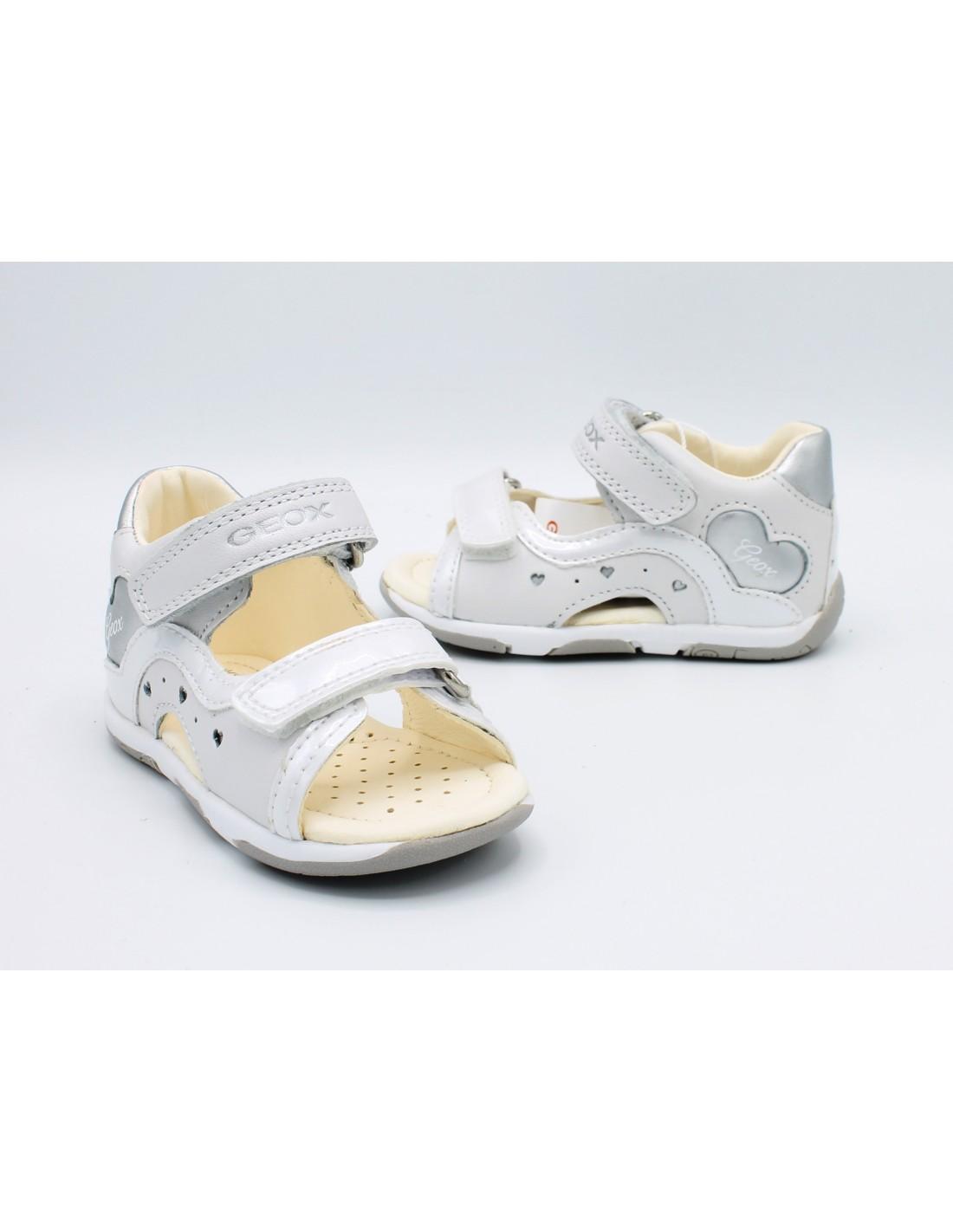 Dettagli su Geox sandali da bambina primi passi eleganti scarpe estive per bimba in pelle 22