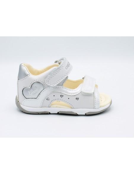 Geox Tapuz sandali da bambina in pelle primi passi bianco B920YC