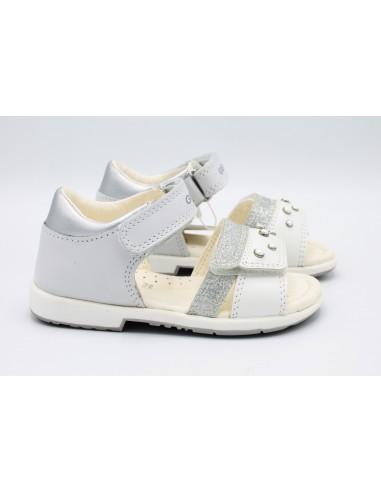 Geox Verred sandali da bambina primi passi eleganti in pelle bianco B9221A