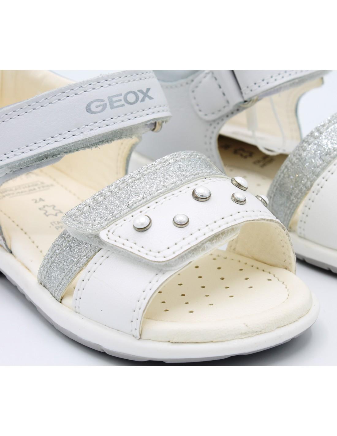 Dettagli su Geox sandali da bambina in pelle eleganti primi passi cerimonia scarpe per bimba