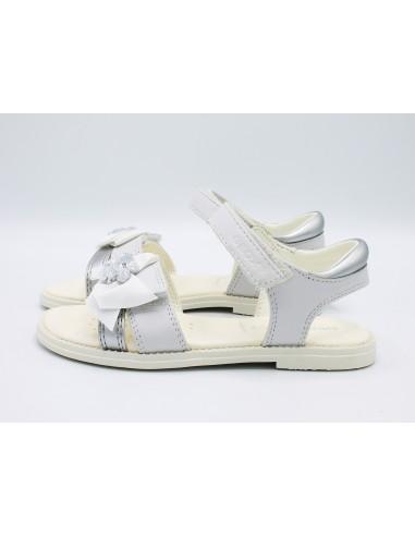 Sandali Bambina Bianco Karly Geox Da J9235h Pelle Eleganti In TK5FcJ13ul