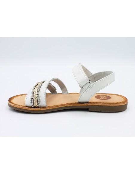 Gioseppo sandali da bambina in pelle e cuoio eleganti bianco 48613