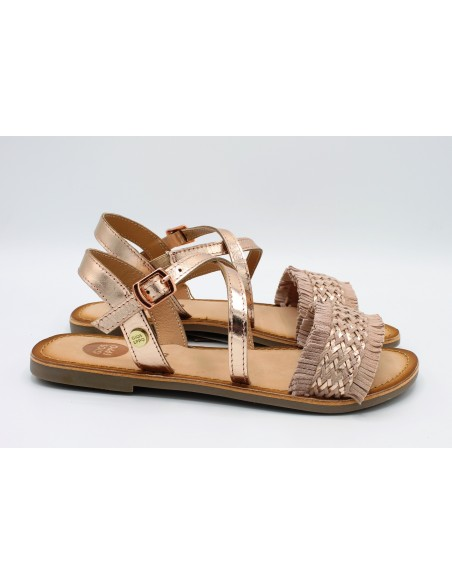 Gioseppo sandali da bambina ragazza in pelle e cuoio nude 47817