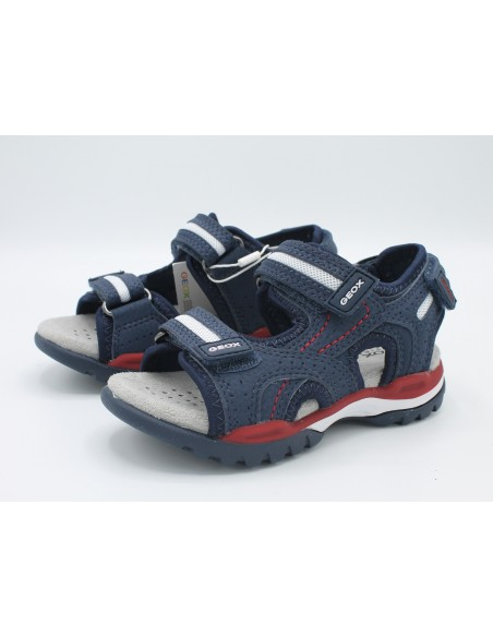 Geox sandali da bambino ragazzo Borealis J920RD blue rosso regolabili