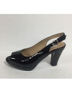 Igi & co. Scandali donna con tacco e plateau in vernice nero art. 77550