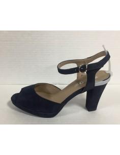 Igi & co. Scandali donna con tacco e plateau in camoscio blu art. 77544