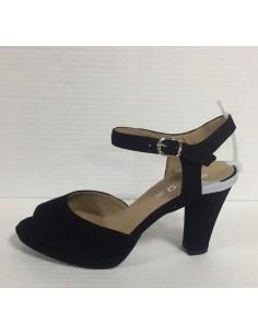 Igi & co. Scandali donna con tacco e plateau in camoscio nero art. 77543