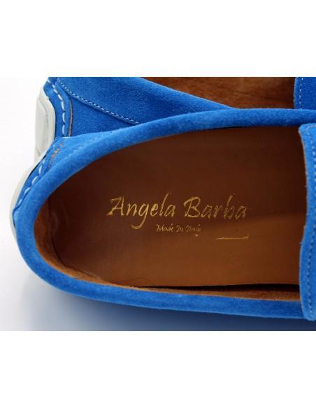 Angela barba mocassini in vera pelle da uomo camoscio artigianali made in italy 482